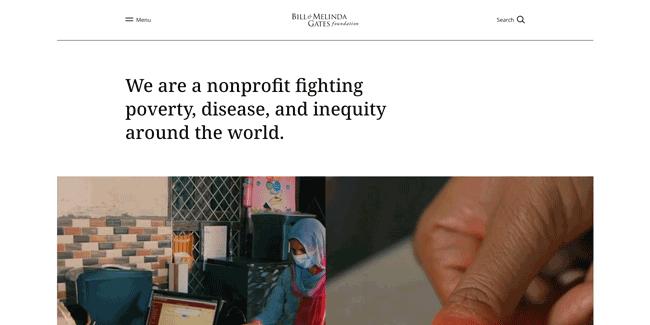 Gates Foundation Website
