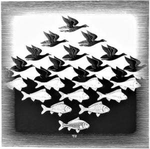 M.C. Escher Negative Space