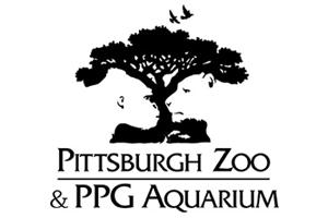 Pittsburgh Zoo negative space logo