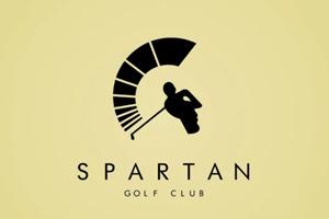 Spartan Golf Negative Space Logo